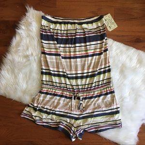 Lucky Brand Romper Cover Up Stripes shortall